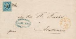Nederland - 1864 - 5 Cent Willem III, 1e Emissie Op Complete Vouwbrief Van Haarlem Naar Amsterdam - Periode 1852-1890 (Willem III)