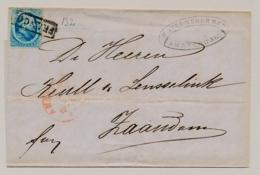 Nederland - 1866 - 5 Cent Willem III, 2e Emissie - Enkelfrankering Op Omslag Van Amsterdam Naar Zaandam - 1852-1890 (Wilhelm III.)