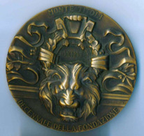 Medaglia BRONZO -1988 -  MONTE TITOLI - DECENNALE DELLA FONDAZIONE - Diametro 70 Mm - Peso 179 G RARA - Italia
