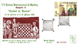 Chess Schach Echecs Ajedrez - Linares. Spain 1988_6th International Chess Tournament_Souvenir Cover_CCC 2127 - Schach