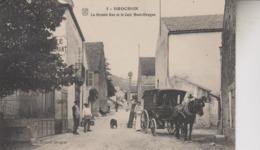 BROCHON  LA GRANDE RUE ET LE CAFE MUET SIRUGUE - Autres Communes