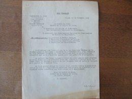 ETAT FRANCAIS LILLE LE 26 NOVEMBRE 1943 PREFECTURE DU NORD NOTE DU PREFET LISTE DES FILMS DONT LA PROJECTION EST INTERDI - Historische Dokumente