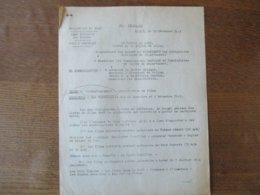 ETAT FRANCAIS LILLE LE 18 DECEMBRE 1943 PREFECTURE DU NORD NOTE DU PREFET CINEMATOGRAPHIE-INTERDICTION DE FILMS - Historische Dokumente