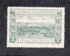 SLOVENIA, CELJE, POSTER STAMP, SLOVENSKA GORICA, CIRIL AND METOD SOCIETY, 4.6 X 3.4 Cm - Slovenia