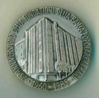 Medaglia ARGENTO -1985 -  LUIGI JACOBINI FONDAZIONE BANCA POPOLARE DI BARI - Diametro 40 Mm - Peso 32 G RARA - Italia