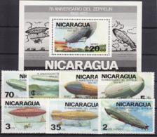SPACE - Zeppelin - NICARAGUA - S/S+Set MNH - Spazio