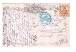 France Occupation Allemande Cachet Muhlen 1918 Censure Controle Gepruft Metz Griffe 70 Goldenberg Resignation Tableau - Alsazia-Lorena