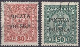 POLONIA - 1919 - Lotto Di 2 Valori Usati: Yvert 85 E 87, Come Da Immagine. - ....-1919 Übergangsregierung