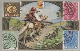 Bosnie-Herzégovine - La Poste En Bosnie - Facteur à Cheval Avec Ses Chiens - Publicité Médecine Robin - Bosnia And Herzegovina