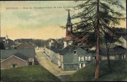 Cp Rocroi Ardennes, Rue De Montmorency Et Vue D'ensemble - Sonstige Gemeinden