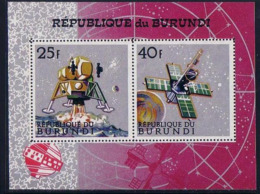 SPACE - BURUNDI - S/S Perf.+imp. MNH - Spazio