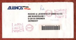 Luftpost, Einschreiben Reco, Postfreistempel Rio De Janeiro, Nach Bremen 1996 (82219) - Brazilië