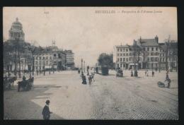 BRUXELLES    PERSPECTIVE DE L'AVENUE LOUISE   TRAM - Avenues, Boulevards