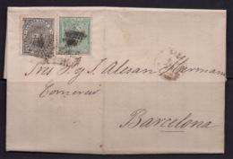 España 1874. Regencia. Carta De Zaragoza A Barcelona. Impuesto De Guerra. - Cartas