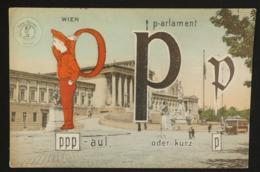 Wien - Postkarte Für Analphabet - KINDERFIGUR SILHOUETT - P - Wien Mitte