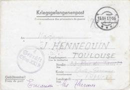 OFLAG XXI B 4 GEPRÜFT 15 Août 1941 - Enveloppe De Schoken (Skoki En Pologne) Cachet Rond Double Cercle - Marcofilie (Brieven)