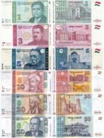 TAJIKISTAN Set (6v) 1 3 5 10 20 50 Somoni 1999 - 2018  P 14A 20 23 24 25 26 UNC - Tadzjikistan