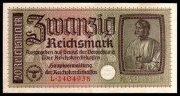 DEUTSCHLAND - ALLEMAGNE - 20 Reichsmark - 1939-45 - WW II - R139 - AU / SPL - 1933-1945: Drittes Reich