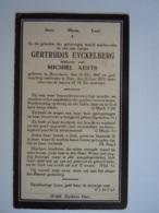 Doodsprentje Gertrudis Eyckelberg Geboren Boorsheim 1847 Overleden Peer 1925 Wed Michiel Aerts - Andachtsbilder