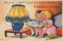 Fontaines 85 Vendée Carte Systéme Complet - Autres Communes