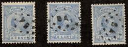"NTH SC #41a (3) U 1891 Princess Wilhelmina W/small ""64"" 1 W/flts CV $0.75 - Used Stamps"