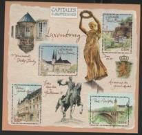 "BF 64 ""CAPITALES EUROPEENNES / LUXEMBOURG"". Neuf Sans Charnière **. TB - Blocks & Kleinbögen"