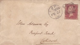 ENGLAND ENVELOPPE CIRCULEE DE GLASGOW A CATHCART. ANNEE 1882, ONE PENNY  -LILHU - 1840-1901 (Victoria)