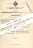 Original Patent - Alois Renner , München , 1887 , Espagnolettestangen - Verschluss   Schlosser , Schlosserei !! - Historische Dokumente