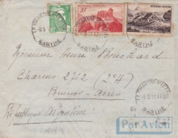 FRANCE ENVELOPPE CIRCULEE DE SARTHE A CHARCAS, BUENOS AIRES, ARGENTINA. ANNEE 1951 PAR AVION-LILHU - Airmail