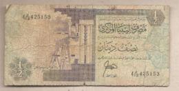 Libia - Banconota Circolata Da 1/2 Dinaro P-58a - 1991 #18 - Libia