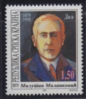 Croatia Republic Of Serbian Krajina 1996 Mathematician And Astronomer Milutin Milankovic, MNH (**) Michel 62 - Croatie