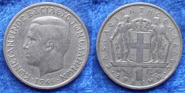 GREECE - 1 Drachma 1966 KM# 89 Constantine II (1964-1967) - Edelweiss Coins - Griekenland