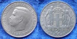 GREECE - 2 Drachmai 1967 KM# 90 Constantine II (1964-1967) - Edelweiss Coins - Griekenland