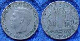 GREECE - 5 Drachmai 1966 KM# 91 Constantine II (1964-1967) - Edelweiss Coins - Grecia