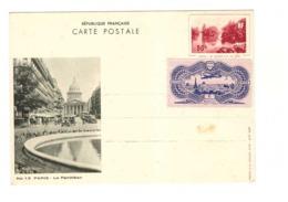 France Entier Postal 90c N°6 Paris Grand Lac Du Bois Pantheon Vignette Edouard Berck 6 Place Madeleine - Entiers Postaux