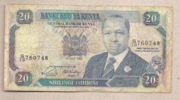 Kenya - Banconota Circolata Da 20 Scellini P-25b - 1989 #18 - Kenia