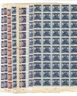 CHINE - 8 FEUILLETS DE 50 EX. - NSG - TP N°747 - 749/753 - 757 - 761 - Chine