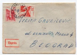 1959 YUGOSLAVIA, SLOVENIA, LJUBLJANA TO BELGRADE, TPO 3 SEZANA-BELGRADE, EXPRESS MAIL - 1945-1992 Socialistische Federale Republiek Joegoslavië