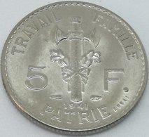 RÉPLICA PRUEBA. Moneda 5 Francos. 1941. Mariscal Petain. Estado Francés, Francia, Vichy. II Guerra Mundial. ESSAI - France