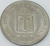 RÉPLICA PRUEBA. Moneda 10 Francos. 1941. Mariscal Petain. Estado Francés, Francia, Vichy. II Guerra Mundial. ESSAI - Francia