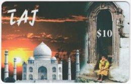 SINGAPORE B-301 Prepaid - Landmark, Taj Mahal - Used - Singapur