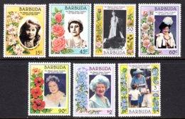BARBUDA - 1985 LIFE & TIMES OF QUEEN ELIZABETH THE QUEEN MOTHER SET (7V) FINE MNH ** SG 776-782 - Antigua Und Barbuda (1981-...)