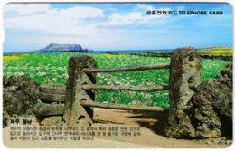 SOUTH KOREA A-721 Magnetic Telecom - Landscape, Field - Used - Corea Del Sud