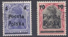POLONIA - POLSKA - 1919 - Lotto Di 2 Valori Usati: Yvert 58 E 60, Come Da Immagine. - ....-1919 Provisional Government