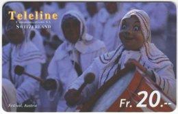 SWITZERLAND D-052 Prepaid Teleline - Occasion, Traditional Festival - Used - Schweiz