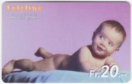 SWITZERLAND D-056 Prepaid Teleline - People, Child - Used - Suisse