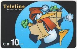 SWITZERLAND D-075 Prepaid Teleline - Cartoon, Winter - Used - Schweiz
