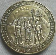 RÉPLICA Medalla VI Centenario Fundación Durango, Méjico, España. 1563-1963. Capitán General Francisco De Ibarra - España