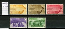 Italie  Poste Aérienne 86 à 90 X     Pour Le Compositeur Bellini - Luchtpost