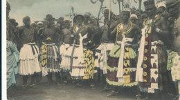 A P 490 -  C P A -  AFRIQUE -  DAHOMEY -  ABOMEY  -GROUPE DE FETICHEURS - Dahomey